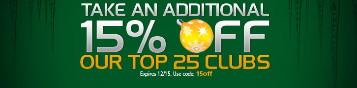 15% Off Our Top 25 Clubs this Christmas