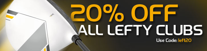 20% Off All Left Clubs. Use code: left20