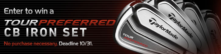 Enter to Win a Preowned TaylorMade Tour Preferred CB Iron Set
